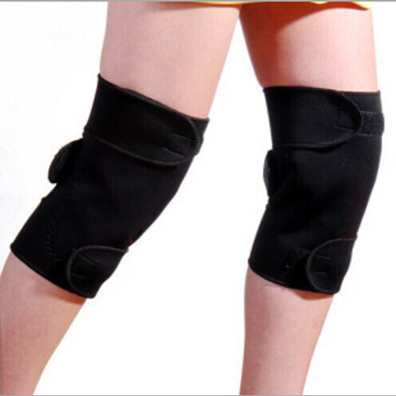 1 Pair Tourmaline Self Heating Kneepad Magnetic Therapy Knee Support Tourmaline Heating Belt Knee Massager(China (Mainland))