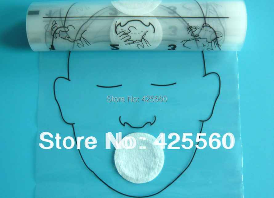 100 Rolls 36pcs/roll CPR Face Masks Mouth To Mouth Protect Shields With One-way Valve For First Aid Training Medical Science(China (Mainland))