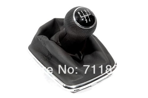 Gear Knob & Shift Boot 5 Speed For Volkswagen For VW Golf MK4(China (Mainland))