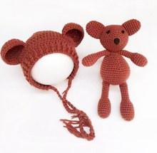 Crochet Baby Hat Bear Handmade Newborn Photography Props Baby Cap Beanie,Infantil Fotografia Accessories,#P0254(China (Mainland))