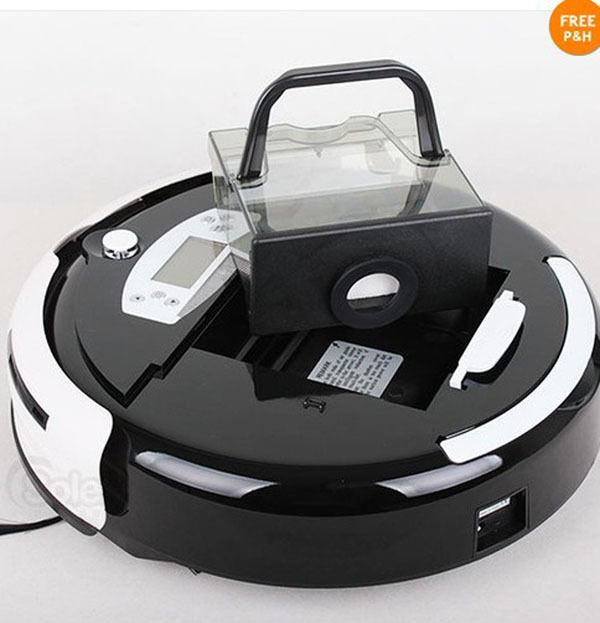 The Largest Dustbin 0.7L Robot Floor Cleaning Machine With Clean Time Setting+Auto Recharged+Virtual Wall+Moping+Free Shipping