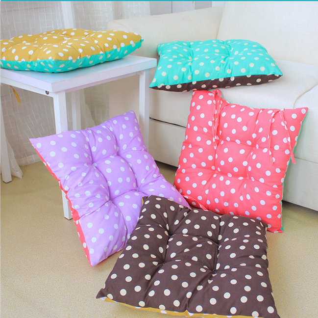 2016 Real New Cojines 1578 Candy colored Double sided For Square Dots Warm Seat Cushion Can