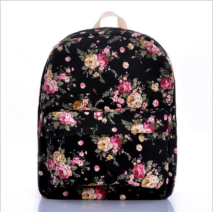 Aliexpress.com : Buy Women Rucksack Vintage Rose Floral
