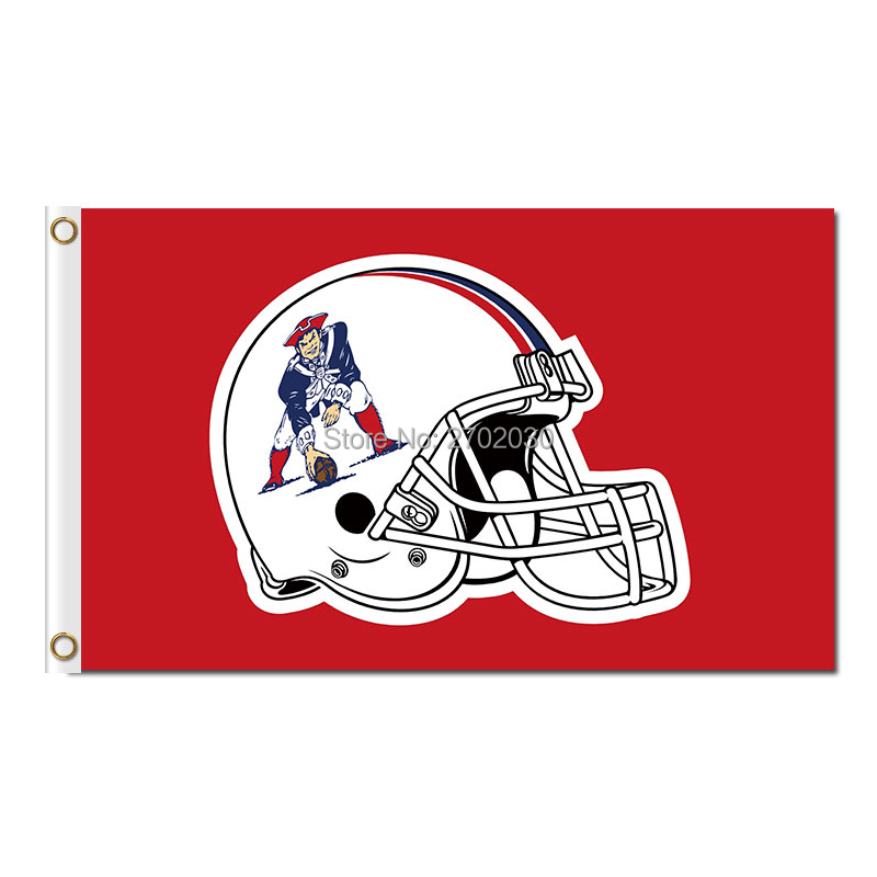 New England Patriots Red Helmet Flag Country Super Bowl Champions 3ftx5ft Banner 100D Polyester Flag Metal Grommets(China (Mainland))