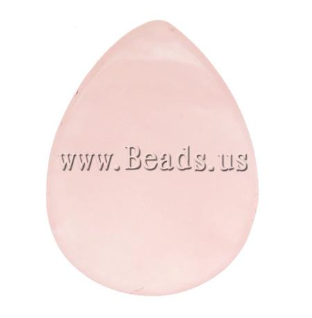 Free shipping!!!Natural Quartz Cabochon,Brand jewelry, Rose Quartz, Teardrop, natural, 20x29.50x6.50mm, 30PCs/Ba Sold By Bag