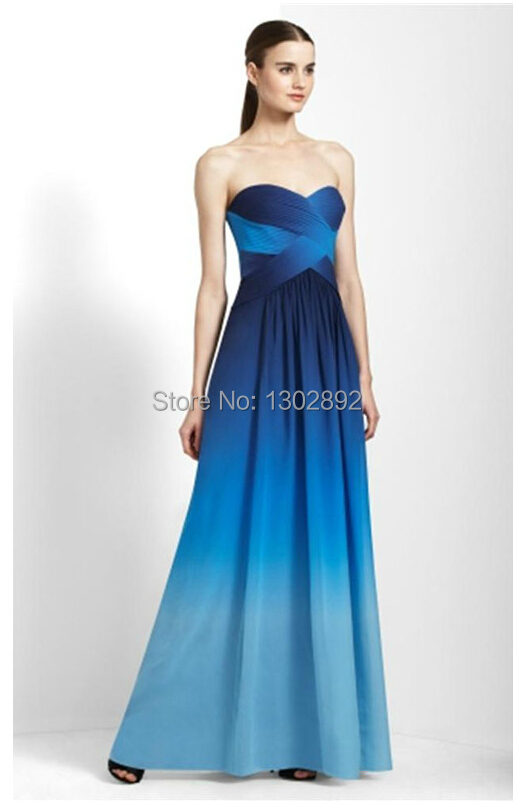 Prom dress navy blue 991