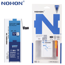 NOHON Replacement Battery for Apple iPhone 6 6G High Real Capacity 3.82V 1810mAh Li-polymer Built-in Lithium Battery With Tools(China (Mainland))