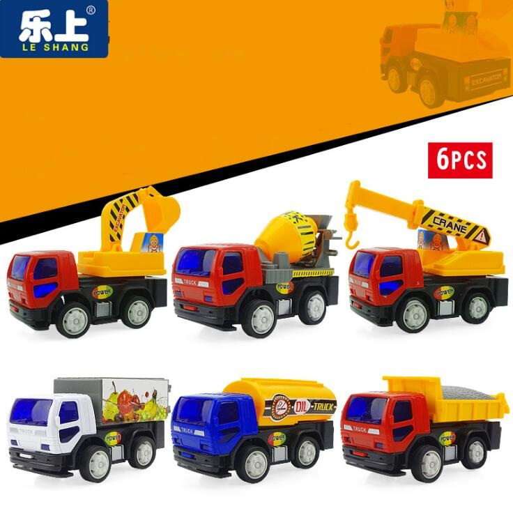 Excavator Crane Truck Car Toys Vehicle Sets Toys Engineering Vehicle City Construction Team Model for Children Gift model cars(China (Mainland))
