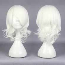 MCOSER Fashion Cosplay Tokyo Ghoul Juuzou Suzuya 38cm Curly Short White Synthetic High Qualiyu Party Wig(China (Mainland))