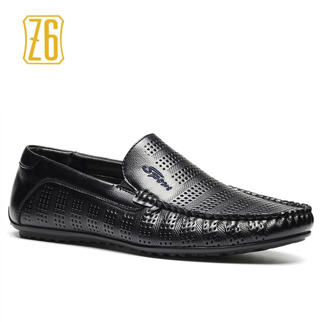 2016 новые люди летняя обувь, Z6 бренд дышащей мягкая вождения ручной отверстие мужчины ...