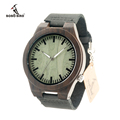 BOBO BIRD Wood Wristwatches Men Relogio Masculino Wood Watch With Genuine Leather Strap Qurtz Wood Watch