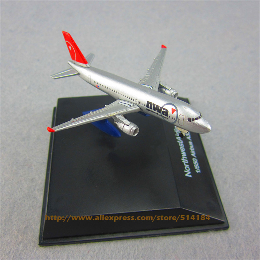 7cm Metal Air American NWA Northwest Airlines Airbus 320 A320 Airplane Model Airways Plane Model w Stand Aircraft Gift(China (Mainland))