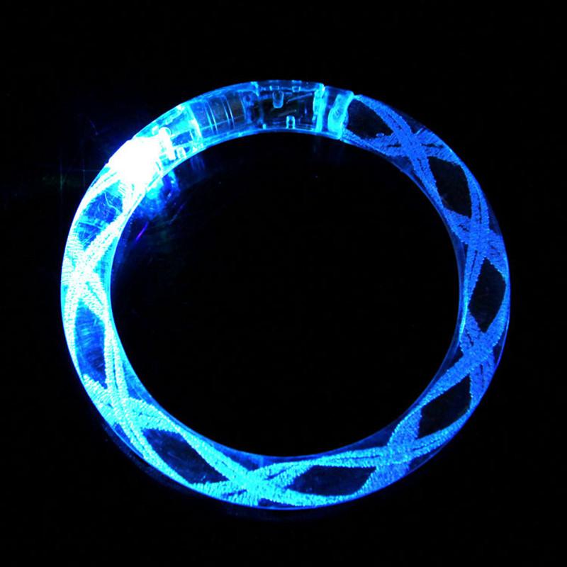 100pcs/lot Colorful hand rings toy led light acrylic bracelet light up luminous bracelets toy with battery<br><br>Aliexpress