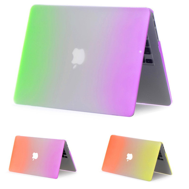 Гаджет  Rainbow Matte Rubberized Frosted Case For Apple macbook Air 11.6 13.3/ Pro 13.3 15.4 Pro Retina 13 15 inch cover For Mac book None Компьютер & сеть
