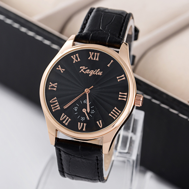 2015 High Quality Vintage Fashion Watches Casual Men Quartz Big Dial Slim Wristwatch PU Strap Fine Watches<br><br>Aliexpress