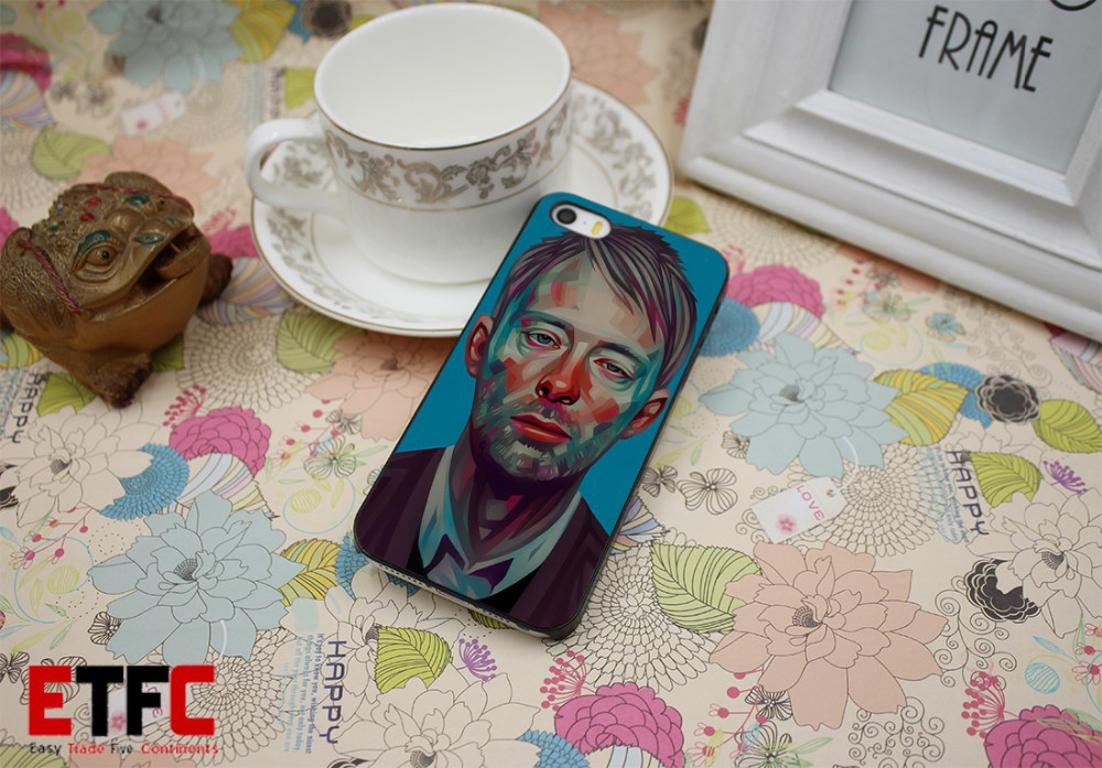 Thom Yorke New Fashion Design Hard Black Skin for iPhone 5 5s 5g Case Cover