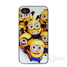 For iphone 4/4s 5/5s 5c SE 6/6s 7 plus ipod touch 4/5/6 back skins mobile cellphone cases cover Lovely boutique Minions