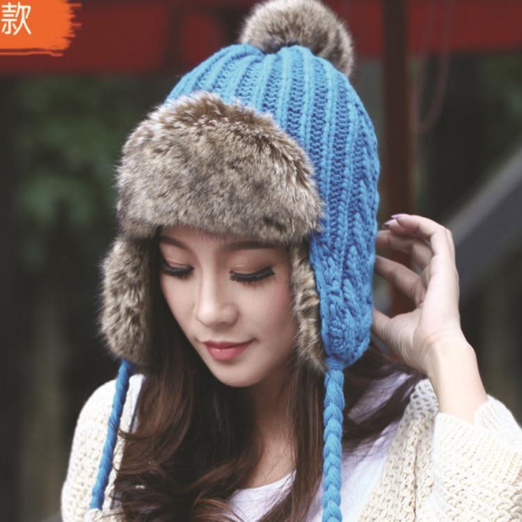 Женская шапка-ушанка  M168