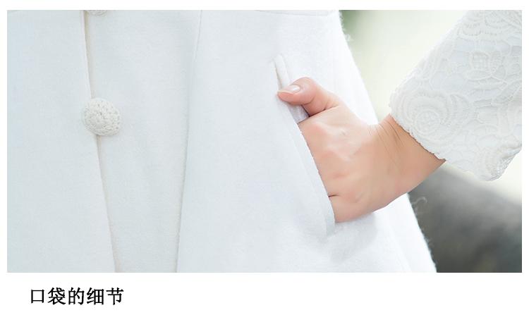 Скидки на 2017 Осень Зима Китайский Стиль Женщины Марка Одежды Повседневная Ретро кружева Лацкане Длинный Толстый Шерстяное Пальто Высокого Качества Плюс Размер пальто
