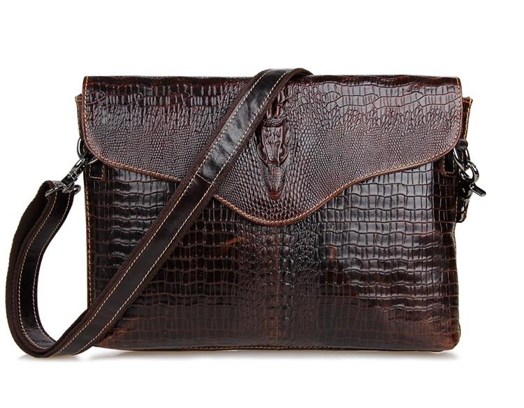 Vintage Crocodile / Alligator Pattern Genuine Leather Small Men Messenger Bags Cowhide Mens Bag For Ipad #MD-J7267<br><br>Aliexpress