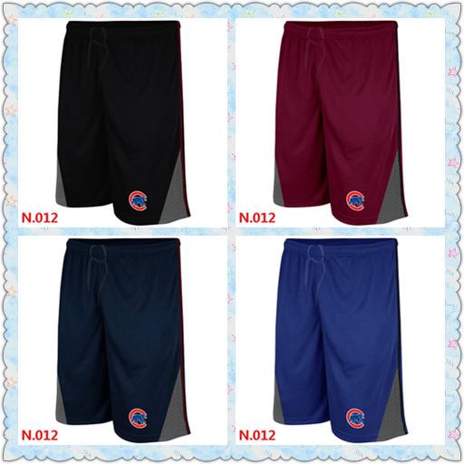 Chicago Cubs Performance Training Shorts New 2015 Summer Baseball Shorts Embroidery Logo Straight Men Shorts Cubs Training Short(China (Mainland))
