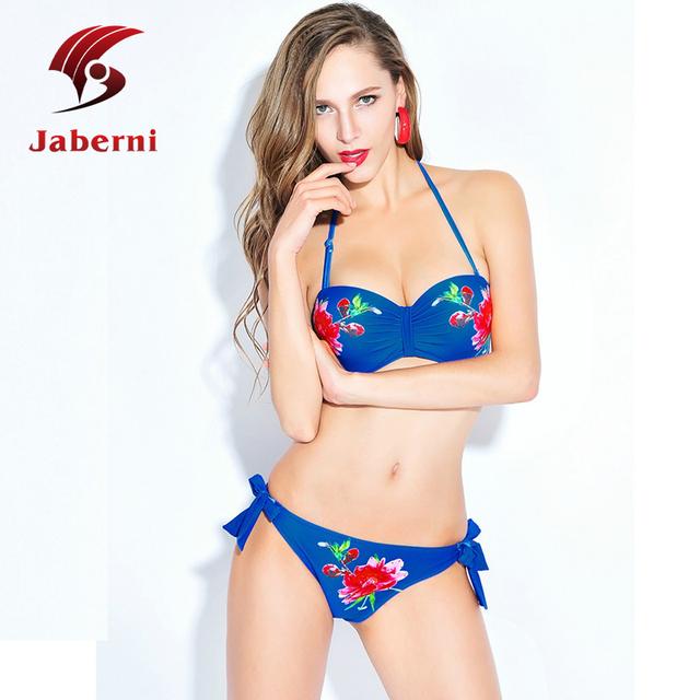 Классический дизайн купальники цифровой холтер бикини Pin Up цветочные дамы сексуальный купальник бразильский лето печать боди