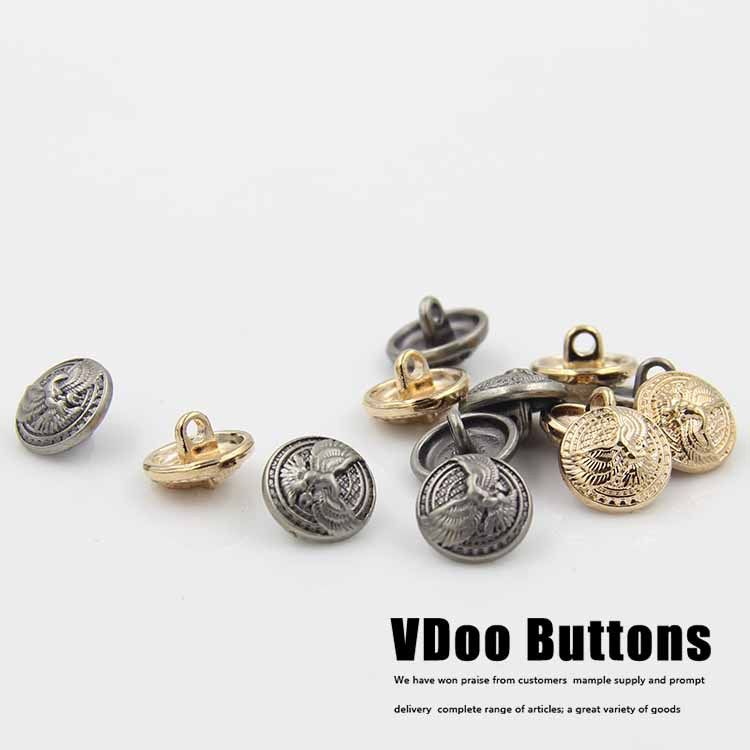 50pcs 10mm eagle wings metal buttons cardigan shirt embossed button sewing supplies(China (Mainland))