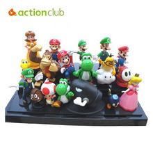 """Super Mario Bros 1set 1""""-2.5"""" yoshi dinosaur Figure toy Super mario yoshi action figure PVC retai(China (Mainland))"""