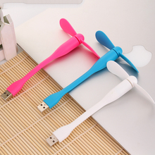 Free Shipping 2015 Hot  Xiaomi USB Fan Flexible USB Portable Mini Fan For Power Bank&Notebook&Laptop&Computer Power-saving