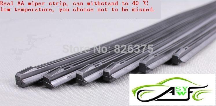 """Free Shipping High Quality Car Wiper Blade Strips Wiper Blades Windscreen Soft Wipers Rubber Size14"""" 16"""" 17"""" 18"""" 19"""" 22"""" 24"""" 26""""(China (Mainland))"""