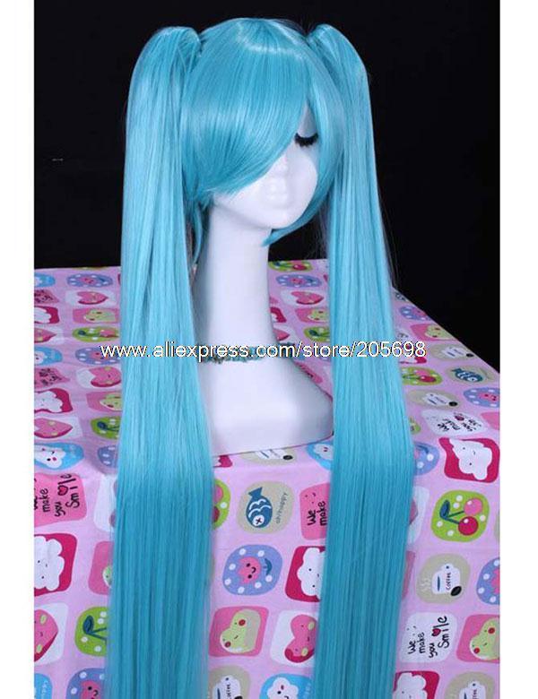 Гаджет  Vocaloid Hatsune Miku High Quality Synthetic Cosplay wig with  Hairpiece anime halloween christmas Free Shipping None Изготовление под заказ