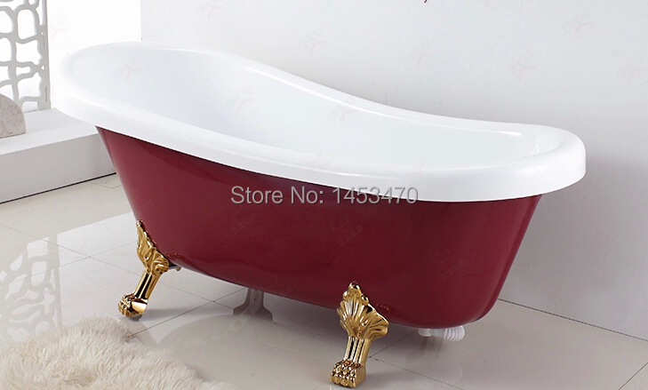 Empty bathtub size 1700x800x710mmhot sale without claw for Cheap clawfoot tubs for sale