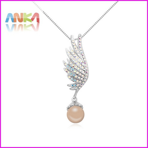 2015 Rushed Special Offer Zinc Women Colar Fine Jewelry Free Shipping Feathers Necklace Made With Swarovski Elements #108452(China (Mainland))