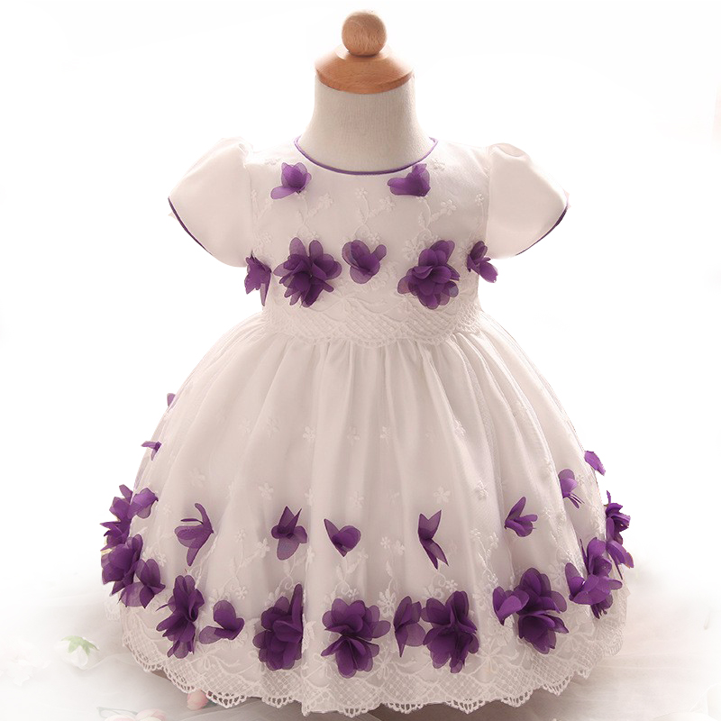 Baby party dresses flower cute tutu dress casual baby girls clothes vestido bebe menina Christening Gown wedding roupa de bebe(China (Mainland))