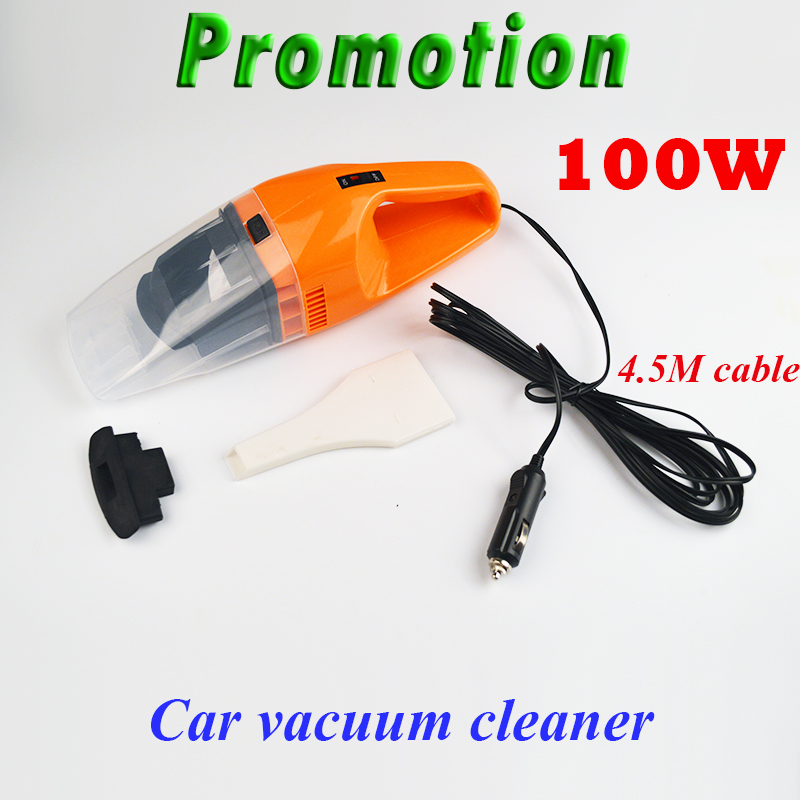 Promotion!!! 100W 12V Car Vacuum Cleaner Super Suction Vaccum Cleaner For Car(China (Mainland))