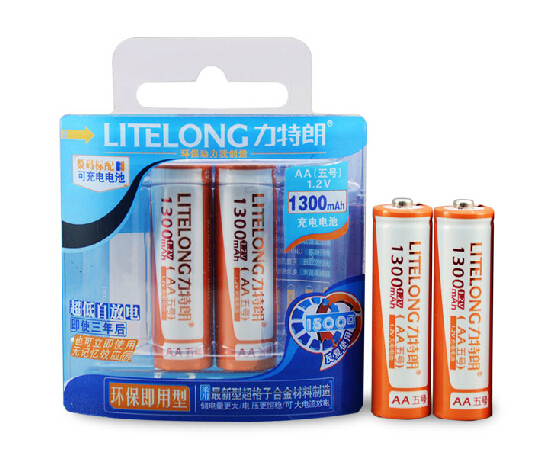 5pack/lot High Capacity LITELONG AA 1.2v 1300mah NI-CD Rechargeable Battery Batteries Free Shipping,4pcs/pack<br><br>Aliexpress