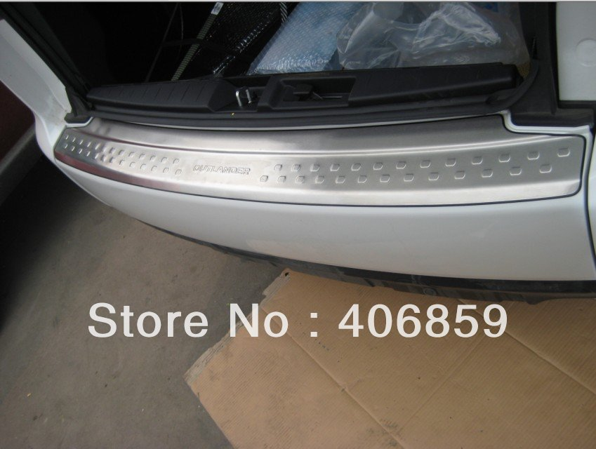 2010-2011 Mitsubishi Outlander High quality stainless steel Rear bumper Protector Sill vggh ,car styling<br><br>Aliexpress
