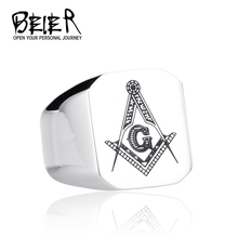 Fashion black/white Freemasonry stainless Steel Ring Finger Personality Ring USA Australia UK France