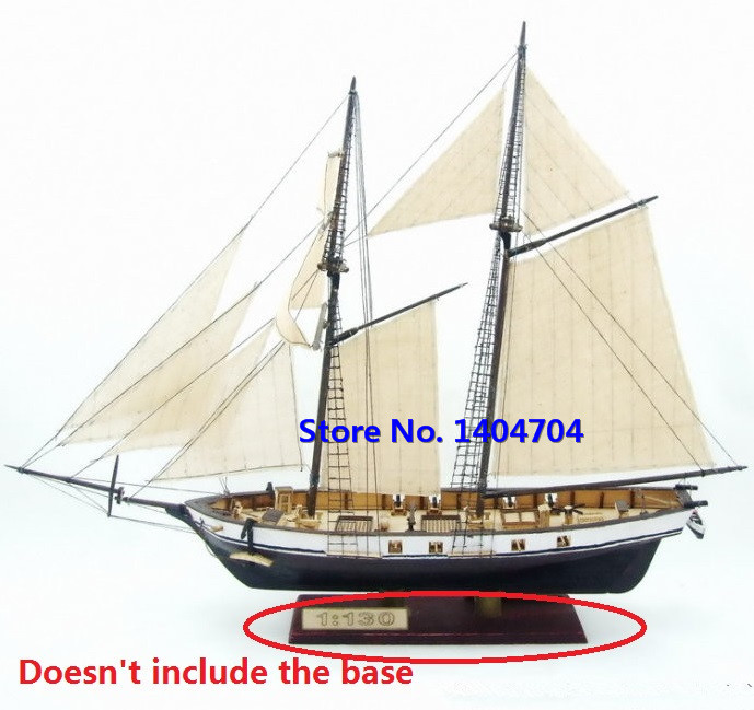 Free shipping Classics wooden sailboat model HARVEY 1847 wooden Assembly kit(China (Mainland))