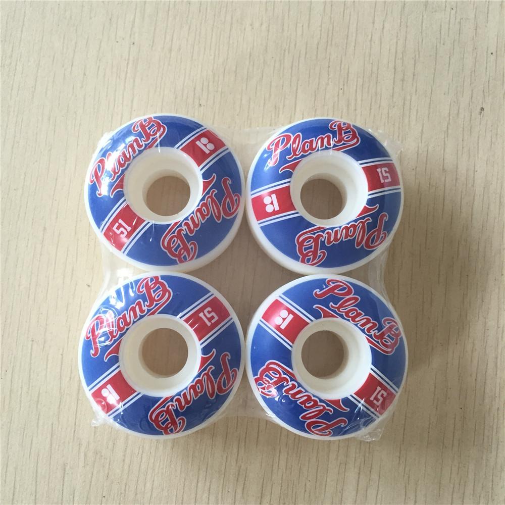 Cheap Skateboard Wheels Sale Plan B 51mm Skate PU White 101A Skateboarding Rodas De