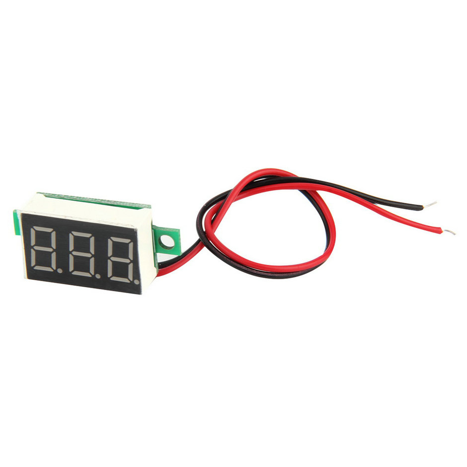 High Quality 1pcs Mini Red LED Panel Voltage Meter 3-Digital Adjustment Voltmeter hot search(China (Mainland))