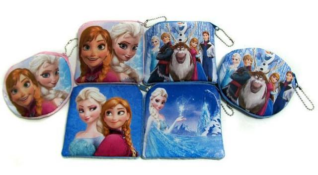 Женщин плюшевые сумки принцесса эльза анна девушки портмоне дети бумажник держателя ...