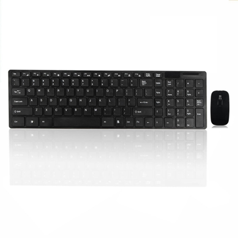 Wireless Optical Keyboard Mouse Combo Set+Dustproof Keyboard Silicone Cover Protector 2.4GHz USB Receiver Keyboard Mouse for PC(China (Mainland))