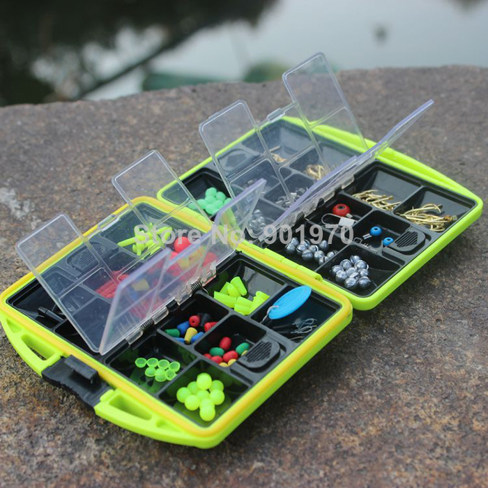 2015 Top Fashion Lip Grip New Big Game Abs Fishing Tackle Box Including Full Accessory,connector,float Rest,lead Sinker Carp Fly(China (Mainland))