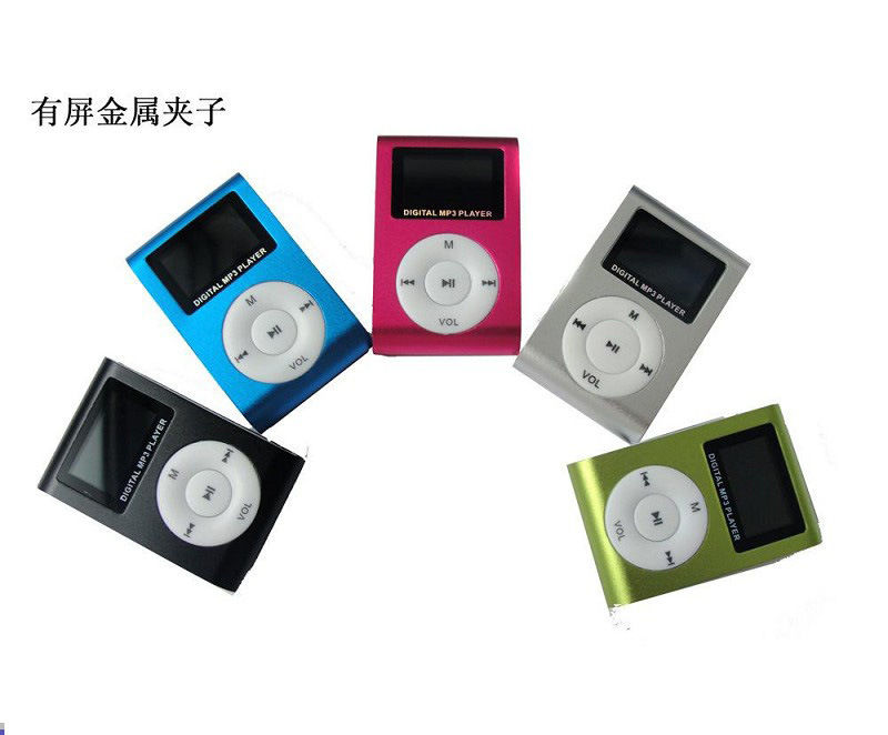 New Portable MP3 LCD Screen Metal Mini Clip MP3 Player With Micro TF/SD Card Slot With usb mp3 Music player (Without Headset )(China (Mainland))