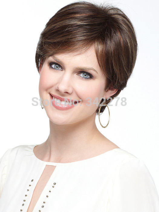 2015 fashion sexy pretty cut hairstyle synthetic wigs short hair straight wigs with bangs for. Black Bedroom Furniture Sets. Home Design Ideas