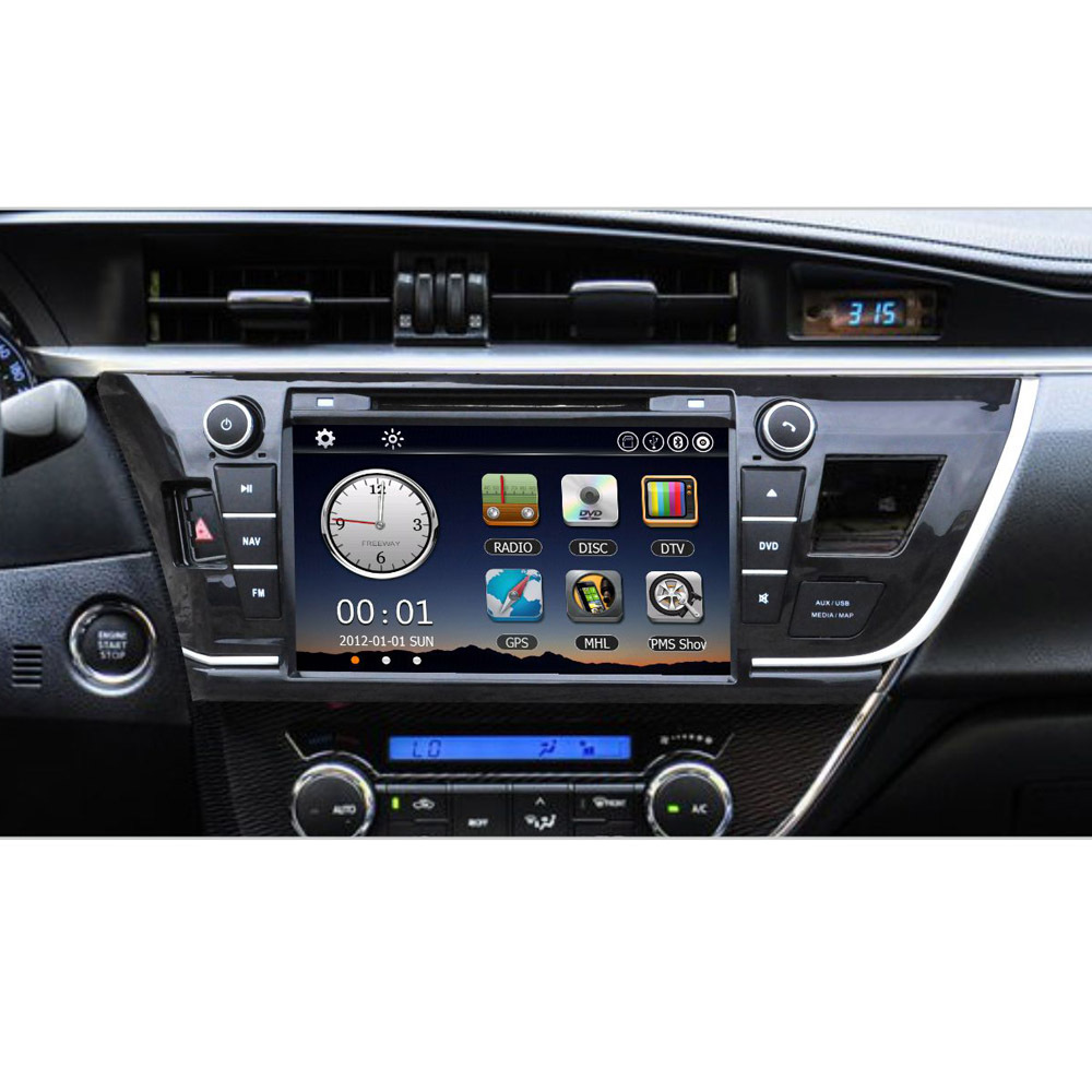 8 Car Radio 2 Din Car DVD Player GPS Navigation in Dash Car PC Stereo Head