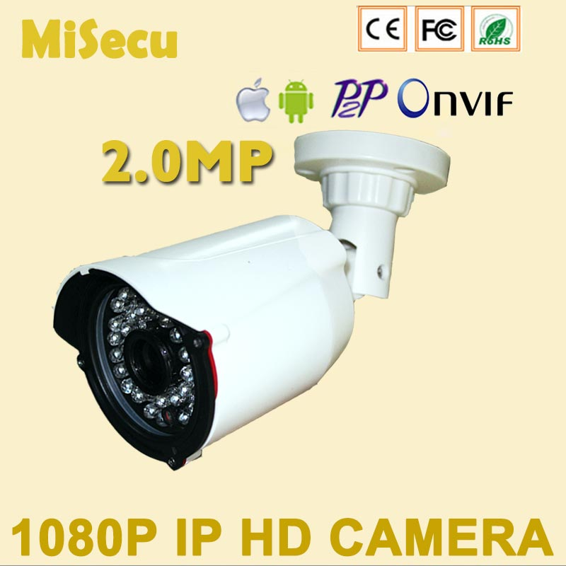Full 2.0MP HD IP camera Onvif P2P HD bullet IP NIght Vision Camera 1920*1080P HI3516C+IM222 ABS Camera cctv home security free<br><br>Aliexpress