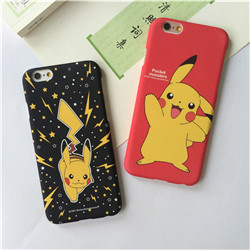 Pokemons Pika Cool pokemon Caso Case Coque Fundas for iPhone 6 6S Plus Phone Case PC Matte Hard Back Cover Pokemon go phone case