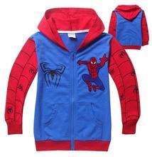 Wholesale Spider-Man Kids Boys Cartoon Outfit Hoodies Jacket Coat Sweatshirt Outwear Spring Autumn Hoody(China (Mainland))